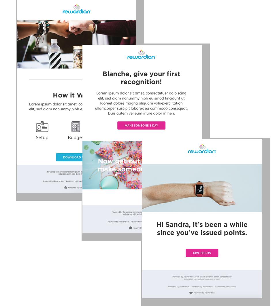 behavioral email, employee recognition platform, employee recognition, rewardian